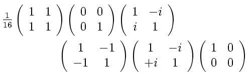 First sample pauli calculation