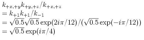 Geometric phase of XYZ relative to XZ computed using vacuum amplitudes