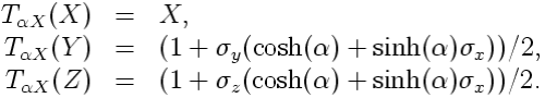 Pure density matrix transformation of pure density matrices