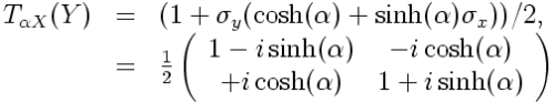 Transformation in matrix form
