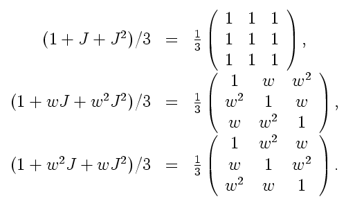 J-basis for qutrits, in pure density matrices