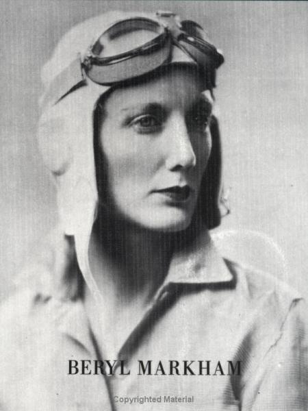 Beryl Markham with flying goggles