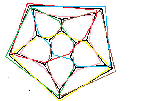 Dodecahedron with edges duplicated in swap form