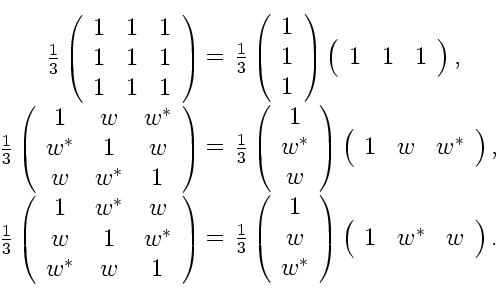 Complete set of annihilating circulant primitive idempotent 3x3 matrices