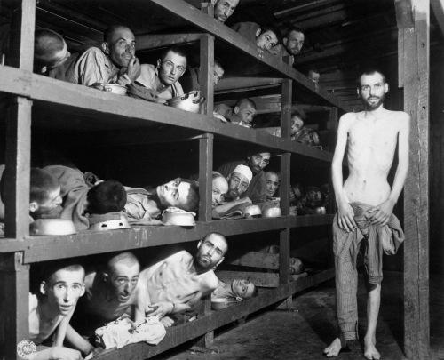 Survivors at Buchenwald, April 16, 1945