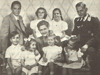 Magda Goebbels, children, and husband